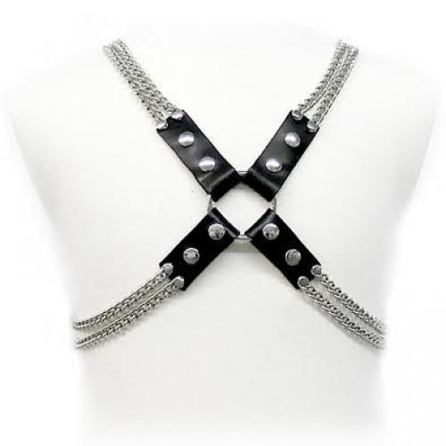 LEATHER BODY CHAIN HARNESS - Imagen 1